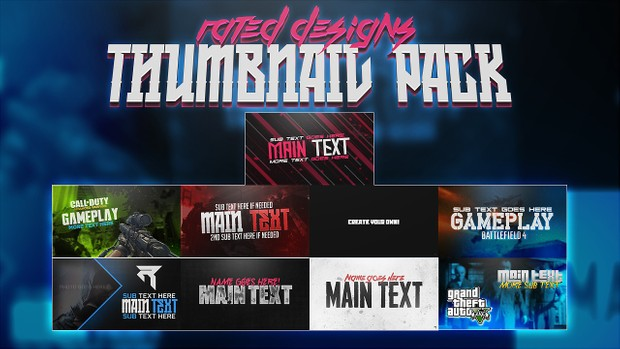 Rated Designs Thumbnail Pack