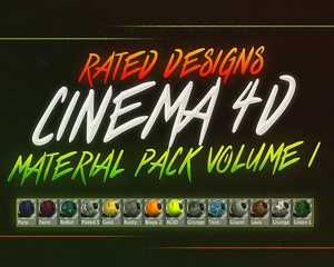 Cinema 4d Material Pack Volume 1 By Rated Designs