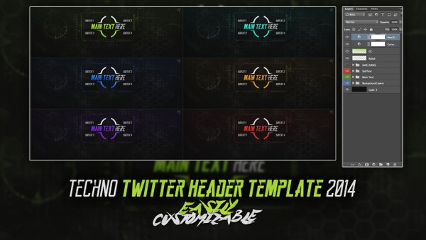 Rated Designs Techno Twitter Template