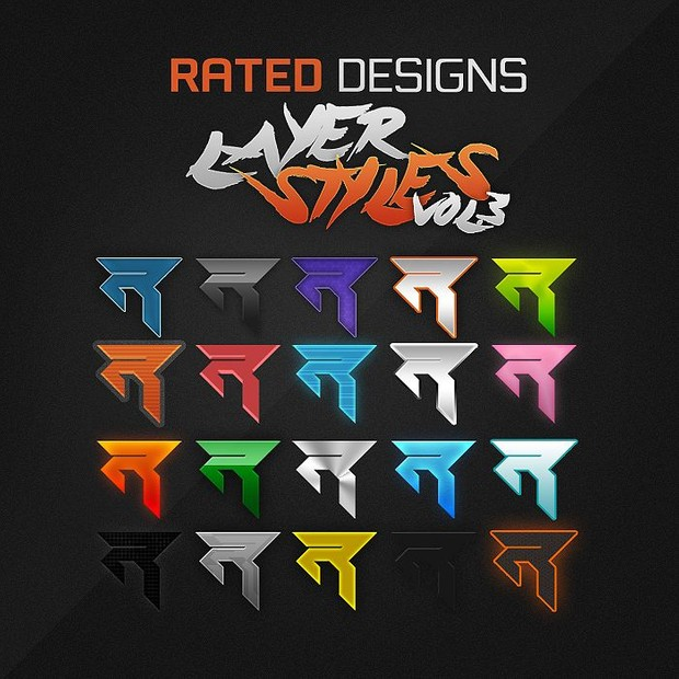 Rated Designs Layer Style Pack Vol.3