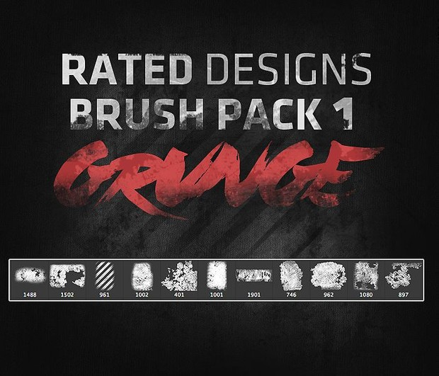 Rated's Grunge Brush Pack