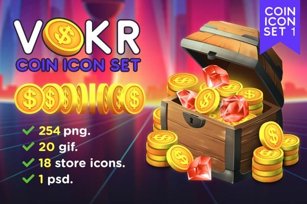 Vokr - Game IAP Coin Icon Set 1