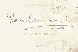 Boulevard - Handwritten Font Duo