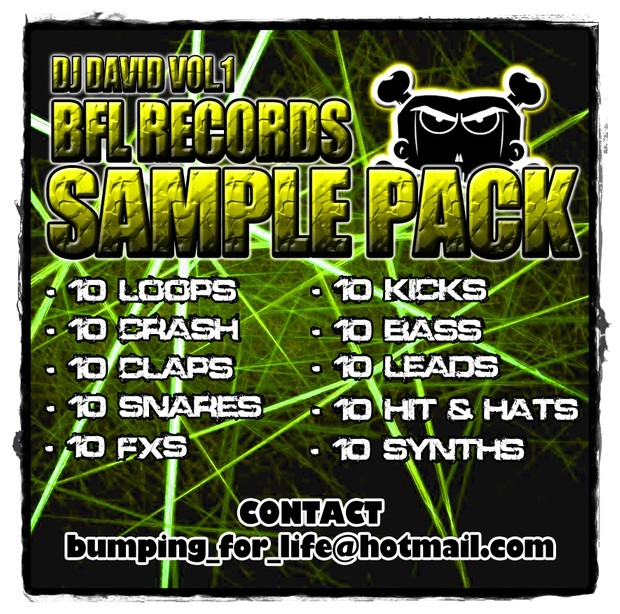 DJ DAVID BFL SAMPLE PACK VOL. 1 + FREE EXCLUSIVE TRACK