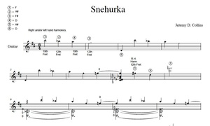 Snehurka - Sheet music score by Jeremy Collins