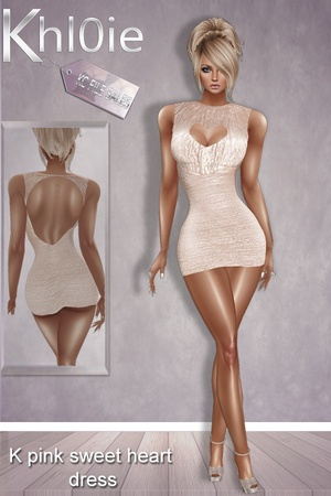 K pink sweetheart dress limited time freebie