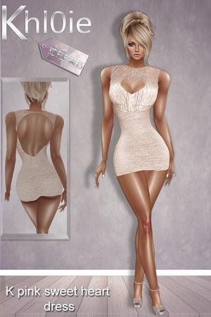 K pink sweetheart dress limited time freebie