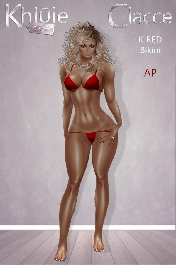 K Red Bikini A.P