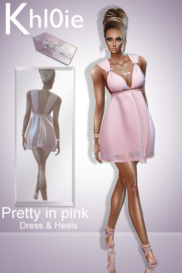 limited time frebie Pretty in pink dress n heels ( must derv off the mesh in my shop)