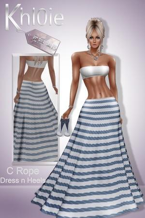 C rope dress n heels
