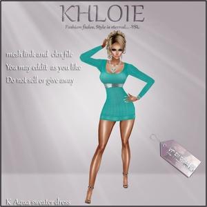 K Aqua dress