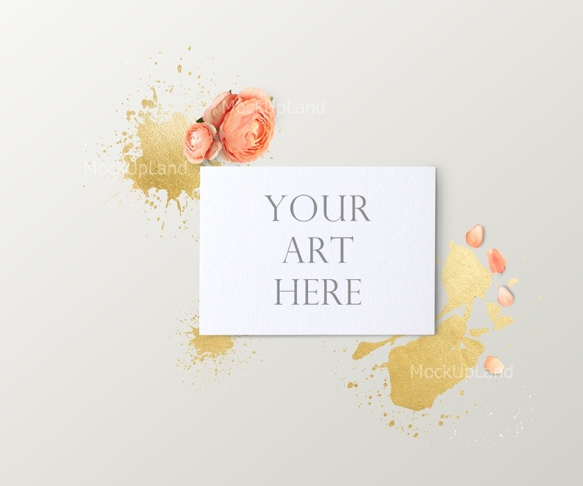 Mock Up For 5x7 Inch Ratio Art For Invitation Card Wedding Invitation Card Photography Etc