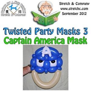 Captain America Mask from Twisted Party Masks 3 by Stretch the Balloon Dude