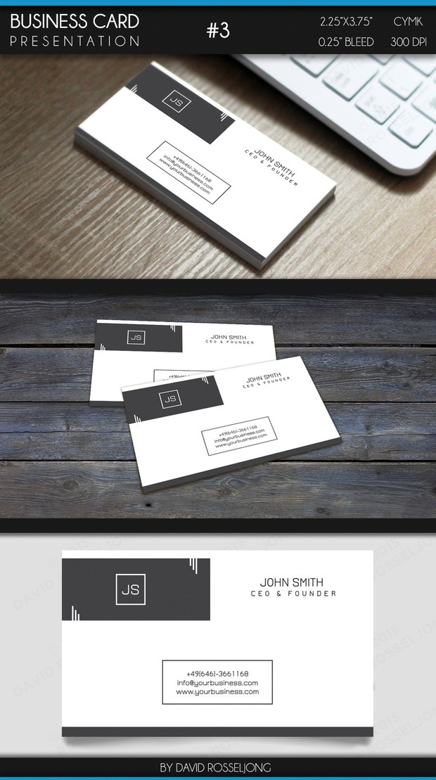 Business Card - Modern, Clean and Elegant #3