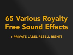 65 Various Royalty Free Sound Effects With Resell Rights