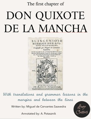 Chapter 1 of Don Quijote de la Mancha - annotated PDF