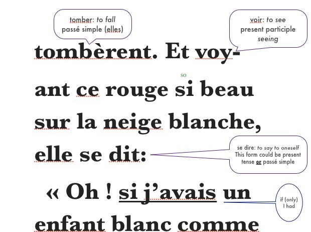 PDF version: Blanche Neige, Snow White, Lingo Classics