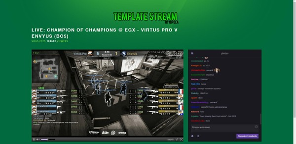 GREEN Streaming Website Twitch Template 2019!!