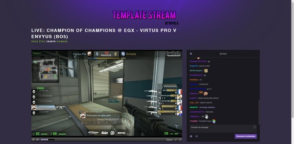 VIOLET Streaming Website Twitch Template 2019!!