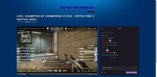 BLUE Streaming Website Twitch Template 2019!!