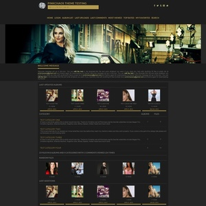 Simple Dark Coppermine Theme