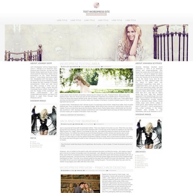 Three Column Wordpress Theme