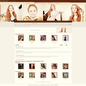 Yellow Coppermine Theme