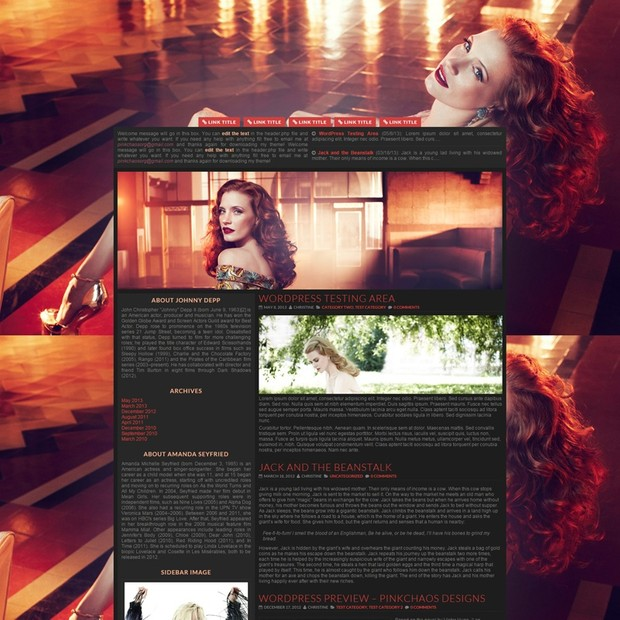 Rebel Dark Wordpress Theme