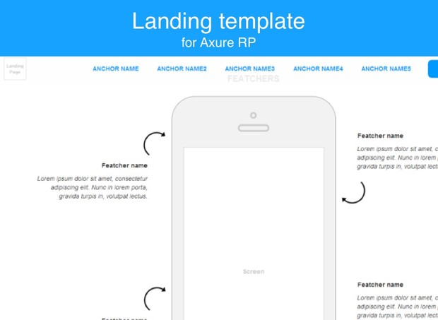 Axure template / Landing