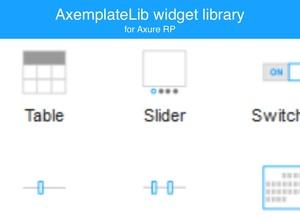 Axure widget library / AxemplateLib