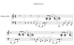 Autumn Leaves Piano Solo PDF Notation