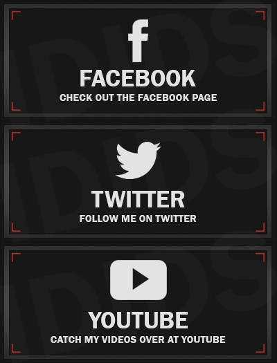 Social Twitch Panels: (Facebook, Twitter, YouTube)