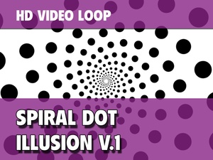 A Spiral Dot VJ-Loop in 720p