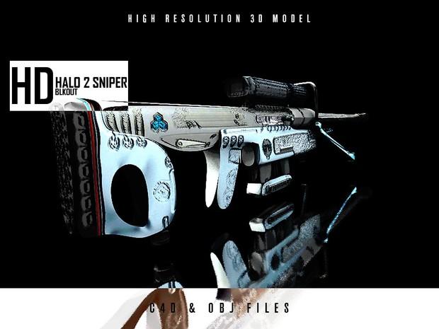 HALO 2 Sniper Rifle 3D Model [HD]