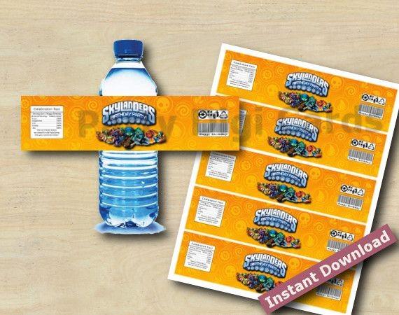 Skylanders Swap Force Water Bottle Labels