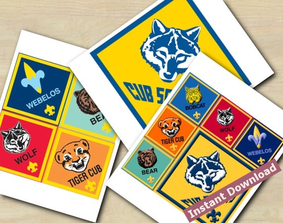Cub Scouts cake toppers