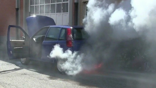 181 Blowing the Fiat  Punto - Miss Iris is on fire