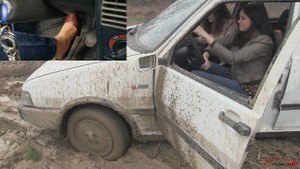 378 : Miss Amy & Miss Melanie having fun in the mud