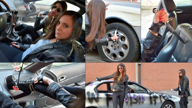 136 Alfa Romeo 166 : The destruction by Miss Iris & Miss Black Mamba