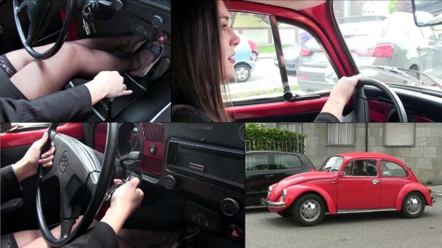 167 : Miss Iris & the WV Beetle driving, stalling and cranking