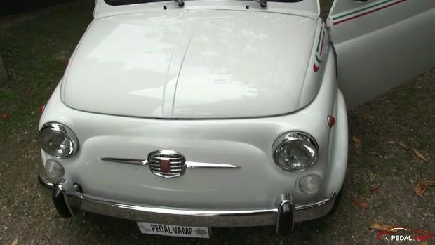 190 Miss Iris Cranking The Old Fiat 500