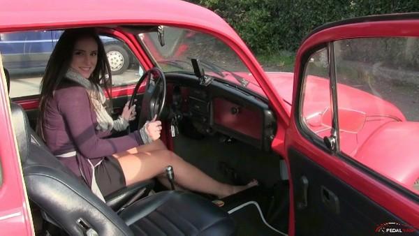 240 Miss Iris flooring the WV Beetle gas pedal