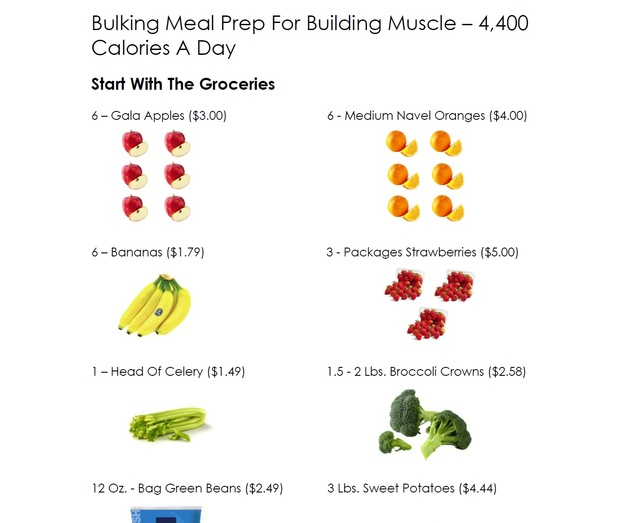 Bulking Meal Prep For Building Muscle - 4,400 Calories A Day