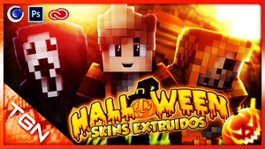 Pack de Skins Extruidos de Halloween Cinema 4D