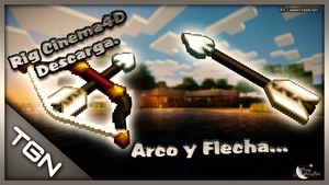 Rig Minecraft Arco y Flecha Cinema4D