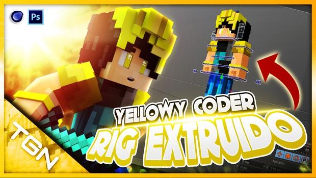 Rig Extruido Yellowy Coder By:GamerJuanAec - Maxon Cinema4D - Descarga