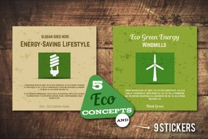 5 Eco Poster Concepts & Stickers
