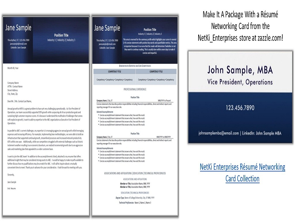 Navy Sheen Collection - Resume and Cover Letter Design Templates