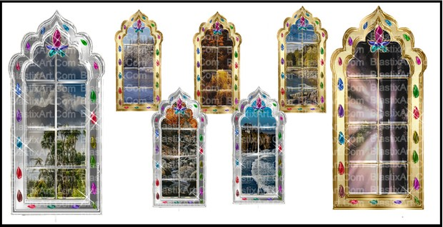 INDIAN PEARL WINDOW VIEW COLLECTION BY CARYR