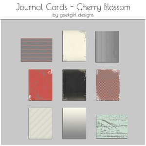 Cherry Blossom Journal Card by geekgirl designs